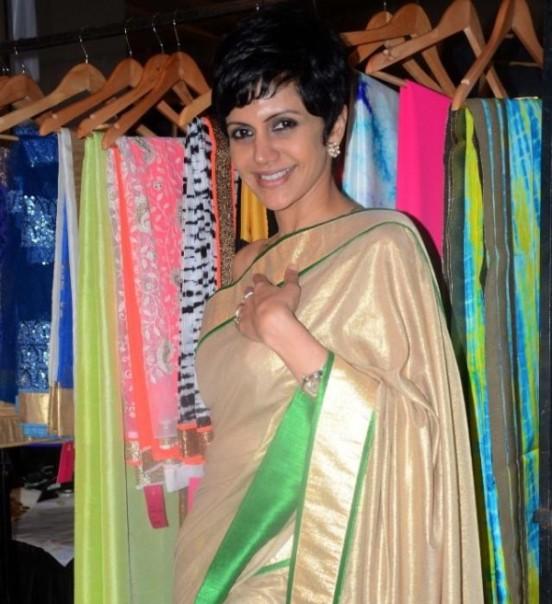 Mandira Bedi in Saree Pics at Araaish Exhibition in Mumbai