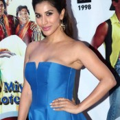 Sophie Choudhary in Blue off Shoulder Short Frock Photos