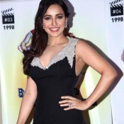 Neha Shrma in Black Evening Gown Armpits Shows Images