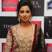 Shreya Goshal in Maroon Anarkali Dress at Launch Ghazal Album Humnasheen