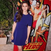 Alia Bhatt in Blue One Piece at Main Tera Hero Success Bash