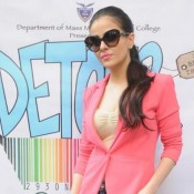 Ariana Ayam in Goggles – Designer Shapes Sunglasses for HEARTLESS Movie Promotion at Jai Hind College
