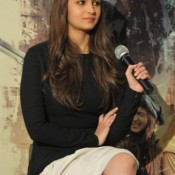 Alia Bhatt in White Skirt –  Photos of Highway Movie Promotion in Landon