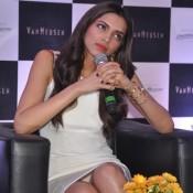 Deepika Padukone Reveals Her Inners Wardrobe Malfunction Images 2014 – Hot White Panty Exposed Pics at VAN HEUSEN Event