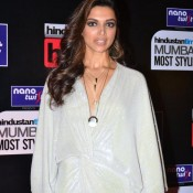 Deepika Padukone in White Gown at HT Mumbai Most Stylish Awards 2014