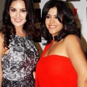 Ekta Kapoor Gets Bold Flaunts Heavy Cleavage Recent Pics Hot Images – 2014 Photos in Red Off Shoulder Dress