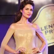 Esha Gupta Hot and Sexy in Golden Dress