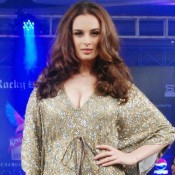 Evelyn Sharma at Kingfisher Ultra Chandigarh Style Week 2014