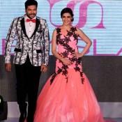 Genelia D'souza Walking on Ramp at Fashion Show in Chennai 2014