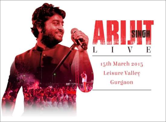 Arijit Singh Live in Concert Gurgaon – March 2015 at Leisure Valley