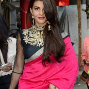 Jacqueline Fernandez in Pink Saree Stills at Sahiba Ltd ad Shoots in Mumbai Recent Images