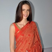 Kalki Koechlin Hot in Red Saree Blouse at ASCCSA Announcement 2014