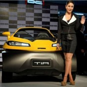 Kareena Kapoor in Short Black Skirt at TIA Car Launch Auto Expo 2014