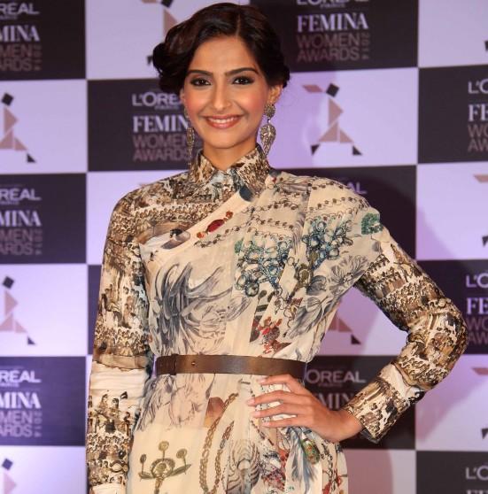 Sonam Kapoor during L'Oreal Paris Femina Women Awards 3rd Edition