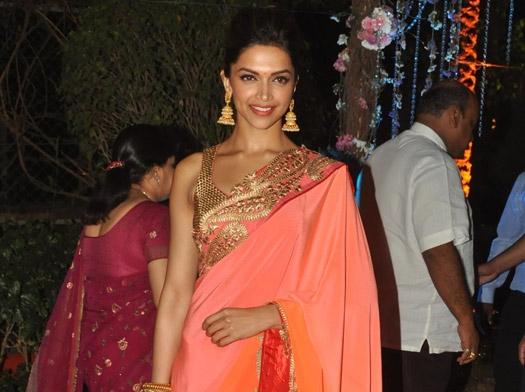 Deepika Padukone Hot in Pink Saree at Ahana Deol's Wedding ...