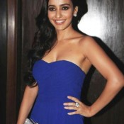 Neha Sharma Hot Cleavage Show Pics – Bold Photos in Off Shoulder Blue Stapless Dress
