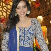 Neha Sharma in Blue Anarkali Dress at HUE Store Launch