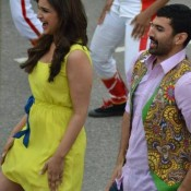 Parineeti Chopra and Aditya Roy Kapur Shooting A Song for Daawat-E-Ishq Hindi Movie 2014