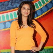 Parineeti Chopra in Black Jeans and Orange Top at Anupam Kher's play Kuch Bhi Ho Sakta Hai pics