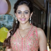 Rakul Preet Singh in Pink Anarkali Suits at Hue Spring Summer 2014 Preview