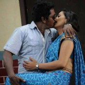Sanjana Singh Hot Lip Kiss Pics Bold Images – Spicy Lip Lock Kissing Scenes with Karunas in Ragalaipuram Tamil Movie 2013