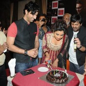 Shreya Ghoshal Deep Cleavage Pics during Celebration of Her Birth Day Party 2014
