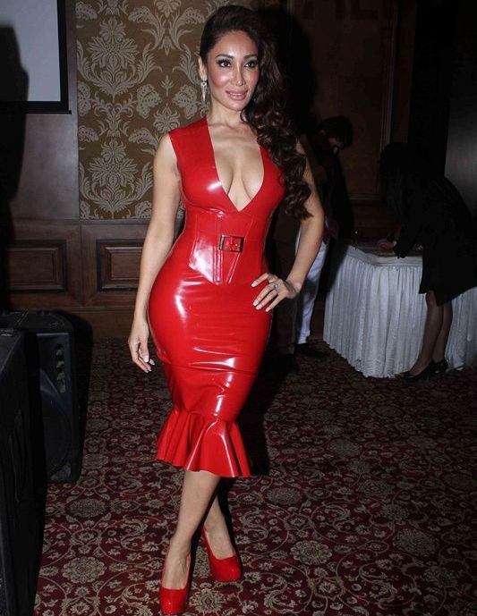 Sofia Hayat In Red One Piece At Mahurat Of Six X Hindi