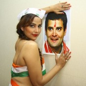 South Indian Actress Tanisha Singh Hot Photoshoot for Rahul Gandhi of Congress for Lok Sabha Election 2014