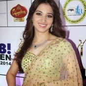 Tamanna Bhatia Hot Navel in Transparent Saree
