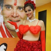 Tanisha Singh Hot Photoshoot For Rahul Gandhi And Congress Party Election Promotion