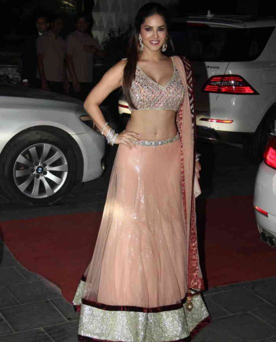 Sunny Leone in Lehenga Choli at Tulsi Kumar and Hitesh Ralhan's ...