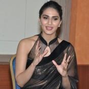 Vaani Kapoor in Black Saree at Aaha Kalyanam Movie Interview