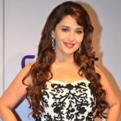 Madhuri Dixit Hot in Black Skirt at Stree Shakti Woman Awards 2014