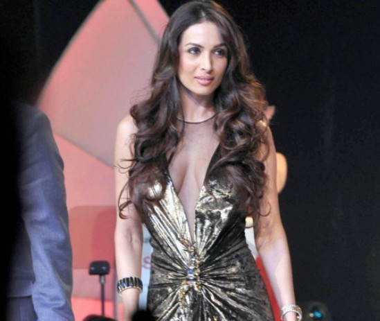 Malaika Arora Khan in Transparent Golden Dress Photos