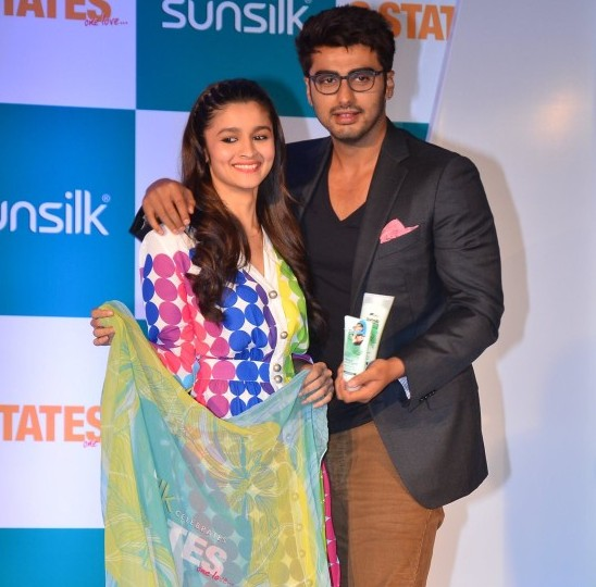 Alia Bhatt and Arjun Kapoor During Promotes Film 2 States at Mumbai