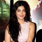 Gabbar is Back Trailer Launch Photos – Shruti Haasan in Pink Cut out Skirt