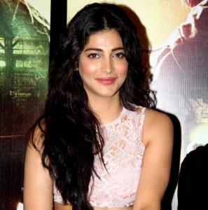 Gabbar is Back Trailer Launch Photos – Shruti Haasan in Pink Cut out Skirt