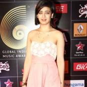 Akshara Haasan in Pink off Shoulder Dress at Global Indian Music Awards 2015