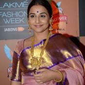 Vidya Balan in Saree at the Lakme Fashion Week Summer Resort 2015