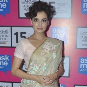 Bollywood Actress Dia Mirza at Lakme Fashion Week Summer Resort 2015