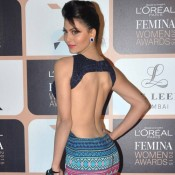 Urvashi Rautela in Backless Gown at Femina Women Awards 2015