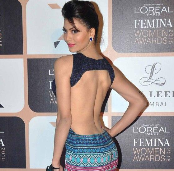 Urvashi Rautela in Backless Gown at Femina Women Awards 2015