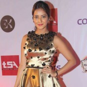Asha Negi in Gold One Piece at Television Style Awards 2015
