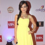 Surbhi Jyoti in Yellow One Piece at Television Style Awards 2015