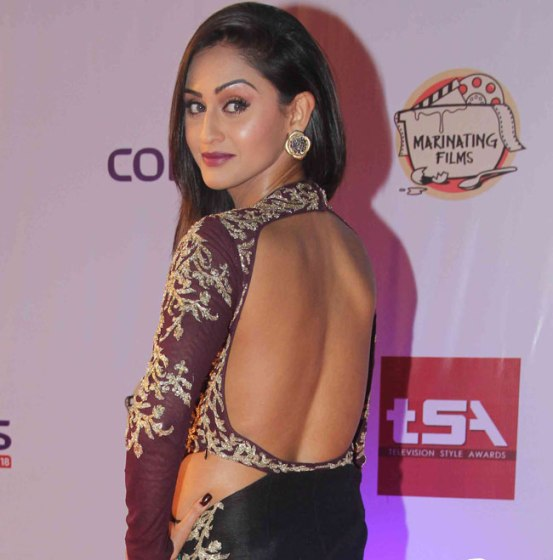 Krystle D'Souza in Backless Gown at Television Style Awards 2015