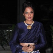 Richa Chadha in Navy Blue Lehenga at Tulsi Kumar and Hitesh Ralhan Wedding Reception
