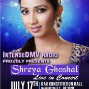 InetenseDMV Radio Present Shreya Ghoshal Live In Concert Washington – July 2015 at DAR Constitution Hall