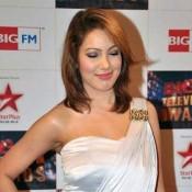 Munmun Dutta in Short off Shoulder Dress Images at Big Television Awards