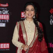 Bollywood Actress Juhi Chawla in Dress for Life OK Screen Awards 2014