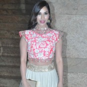 Sophie Choudhary in Lehenga Skirt at 5th Annual Mijwan Fashion Show